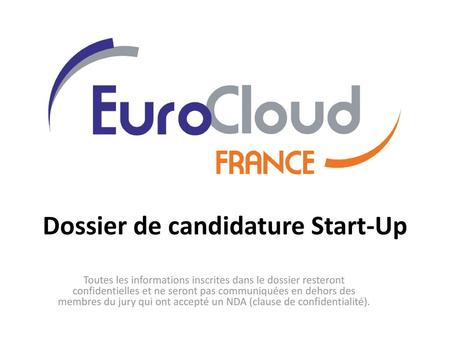 Dossier de candidature Start-Up