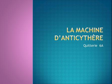 la machine d'Anticythère