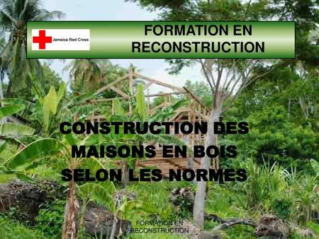 FORMATION EN RECONSTRUCTION