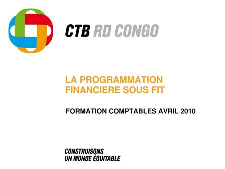 LA PROGRAMMATION FINANCIERE SOUS FIT