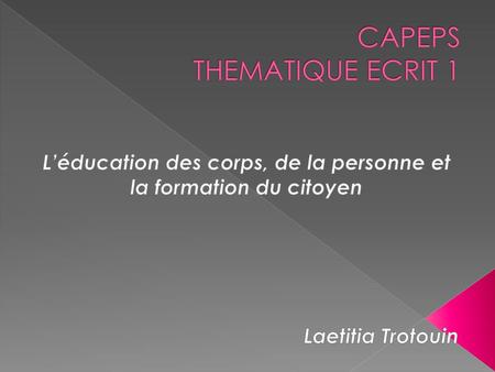 CAPEPS THEMATIQUE ECRIT 1