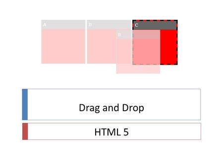 Drag and Drop HTML 5. Intro 17/04/2013Pierre2  Drag and drop hier  Utilisation de librairies java script  JQUERY  DOJO  Constat  Dommage d'utiliser.