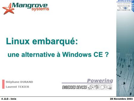 une alternative à Windows CE ?
