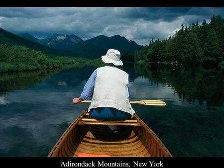 Adirondack Mountains, New York Akanda National Park, Gabon.