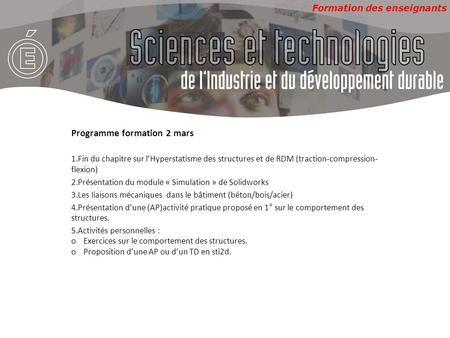 Programme formation 2 mars