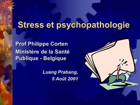 Stress et psychopathologie