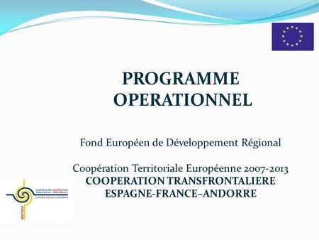PROGRAMME OPERATIONNEL
