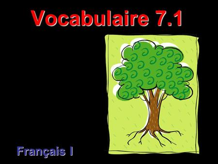 Vocabulaire 7.1 Français I. 2 C'est.... This / That is.... C'est is a contraction of ce + est Use c'est with a modified singular noun: C'est mon père.