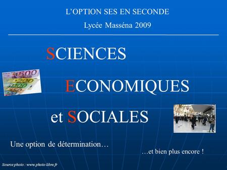 L'OPTION SES EN SECONDE
