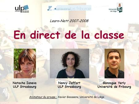 En direct de la classe Learn-Nett