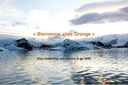 OrangeFrance - Confidentiel - 1 « Bienvenue chez Orange » Plan marketing marché pro & gp 2006.
