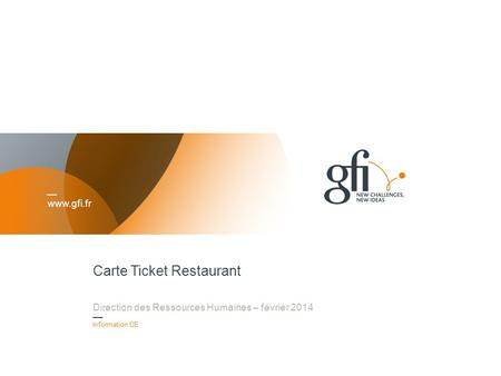 Carte Ticket Restaurant