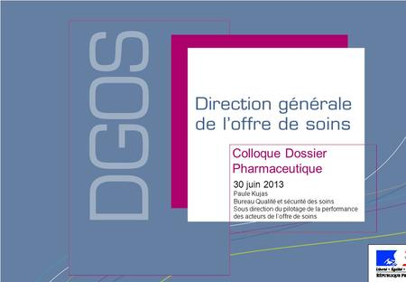 Colloque Dossier Pharmaceutique