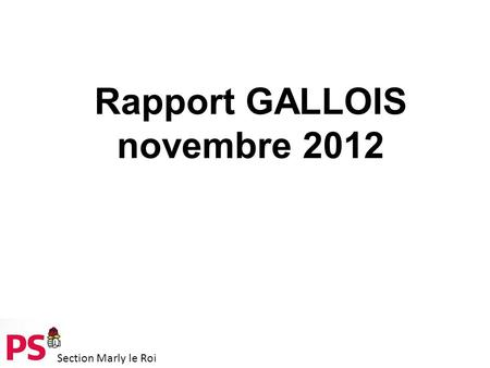Section Marly le Roi Rapport GALLOIS novembre 2012.