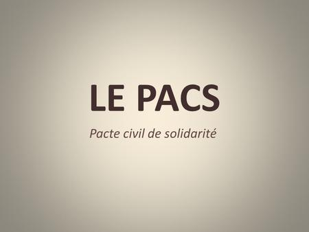 Pacte civil de solidarité