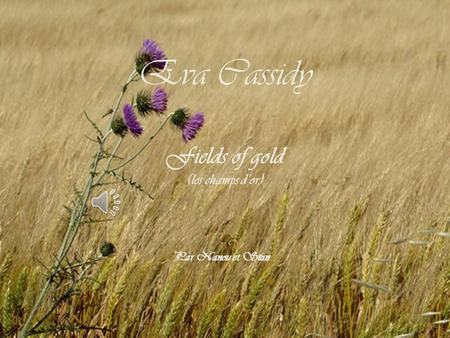 Eva Cassidy Fields of gold (les champs d'or) Par Nanou et Stan.