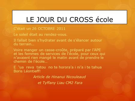 Article de Hinanui Nicouleaud