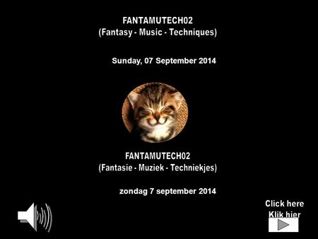 Sunday, 07 September 2014 zondag 7 september 2014.
