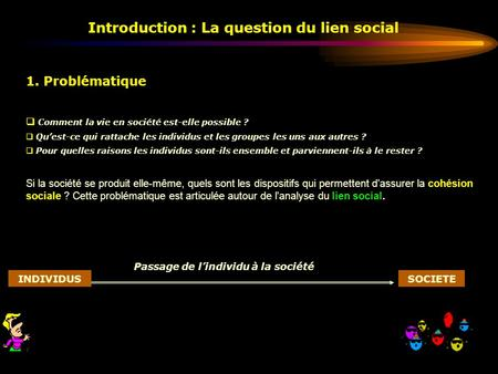 Introduction : La question du lien social