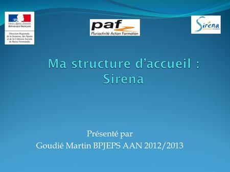 Ma structure d'accueil : Sirena