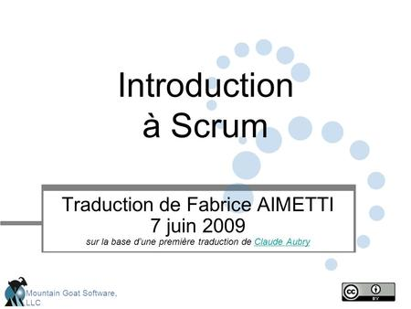 Introduction à Scrum Traduction de Fabrice AIMETTI