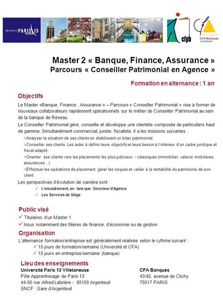 Formation en alternance : 1 an