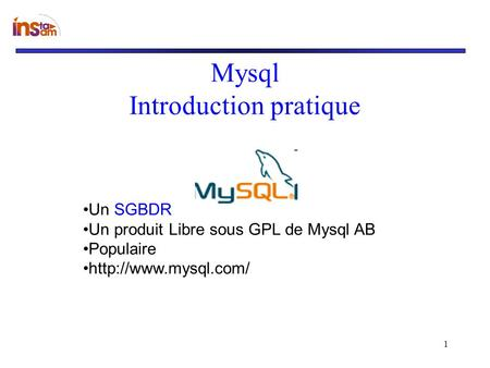 Mysql Introduction pratique