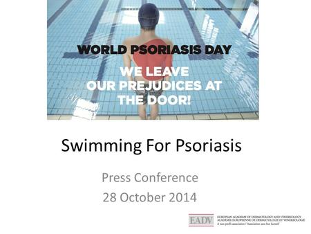 Swimming For Psoriasis Press Conference 28 October 2014.