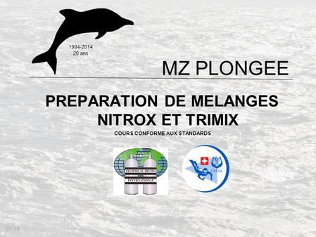 PREPARATION DE MELANGES NITROX ET TRIMIX COURS CONFORME AUX STANDARDS