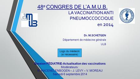 LA VACCINATION ANTI PNEUMOCCOCCIQUE en 2014