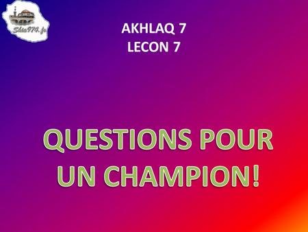 QUESTIONS POUR UN CHAMPION!