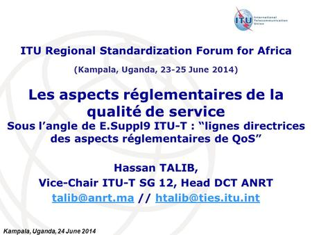 ITU Regional Standardization Forum for Africa