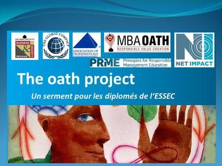 Un serment pour les diplomés de l'ESSEC The oath project.