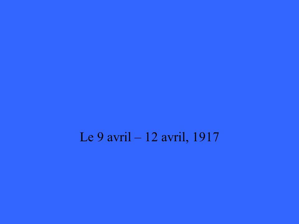Quelles sont les dates pour la Bataille de la Crête de Vimy ?