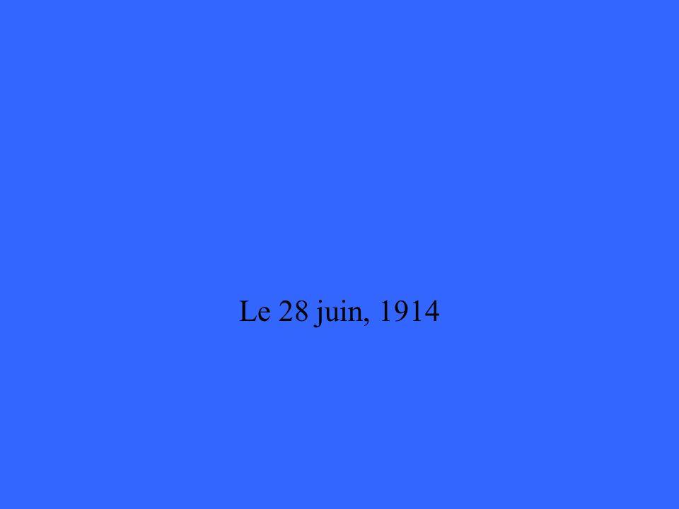Quelle est la date que larchiduc François Ferdinand est assassiné ?