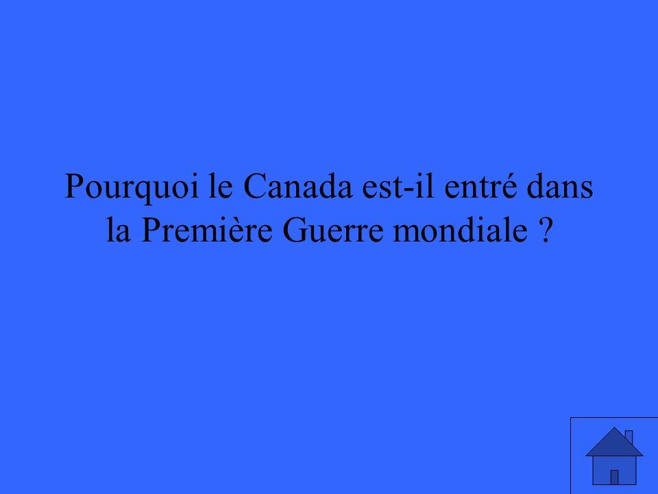 Parce que pendant cette période vers la fin de la guerre, ce sont des soldats canadiens qui sont les troupes dassaut.