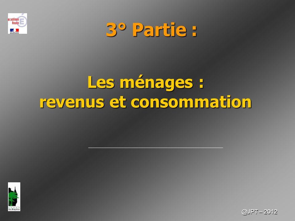 @JPT – 2012 2 I – Lorigine du revenu des ménages Le revenu des ménages est constitué.