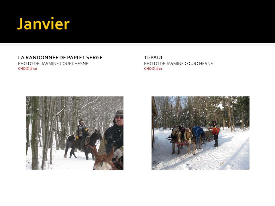 CONCOURS DE VITESSE PHOTO DE SYLVAIN PERREAULT CHOIX #20 SOUS LA NEIGE PHOTO DE JASMINE COURCHESNE CHOIX # 21