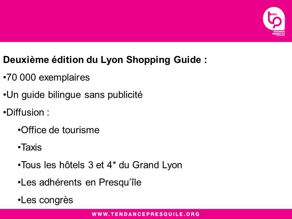 Le contenu : Un design haut de gamme véhiculant une image valorisante de la Presquîle 160 commerces 14 parcours thématiques La Lyon Shopping Card permettant davoir des avantages chez de nombreux adhérents