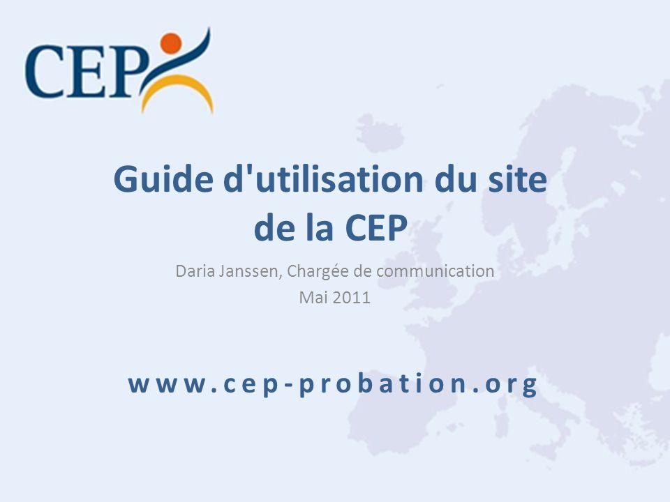 Guide d utilisation du site de la CEP