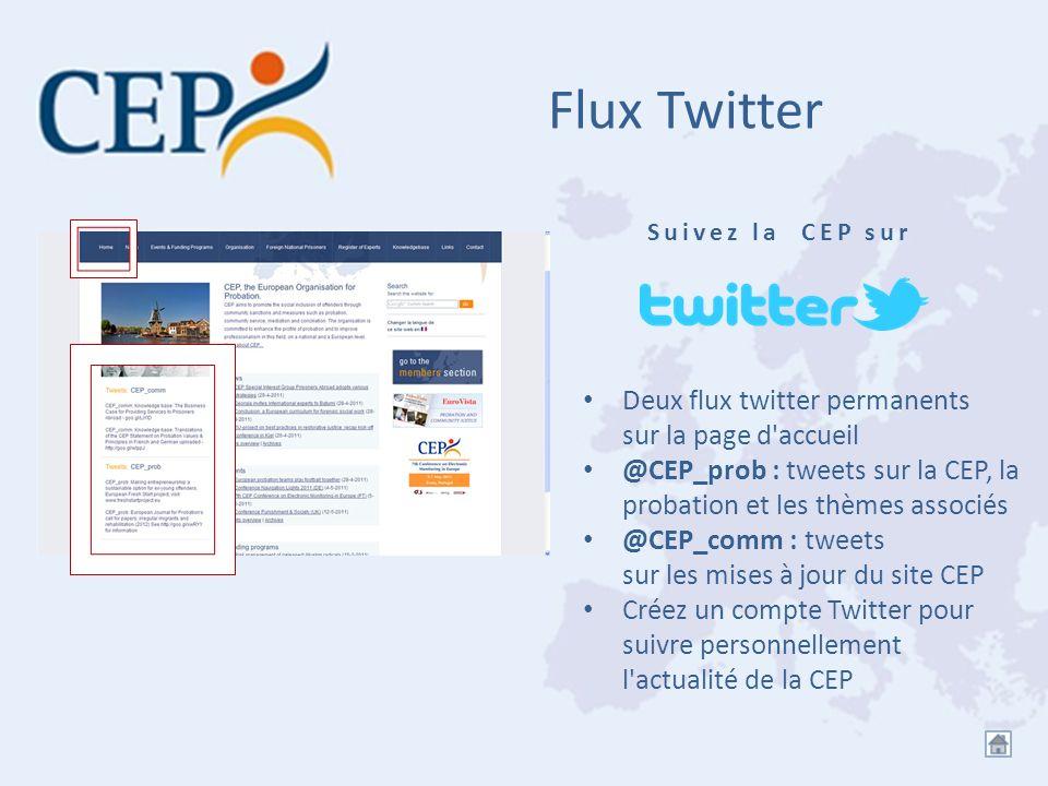 Flux Twitter Deux flux twitter permanents sur la page d accueil