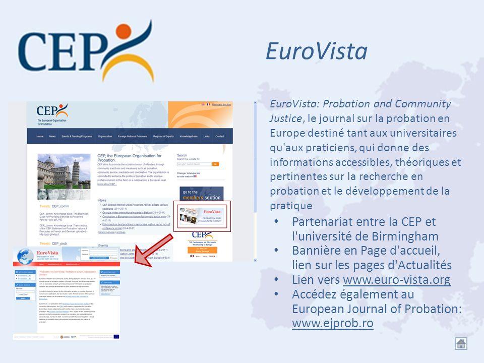 EuroVista Partenariat entre la CEP et l université de Birmingham