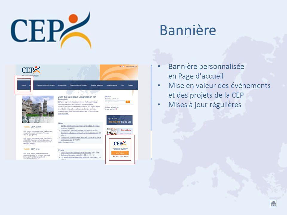 Bannière Bannière personnalisée en Page d accueil