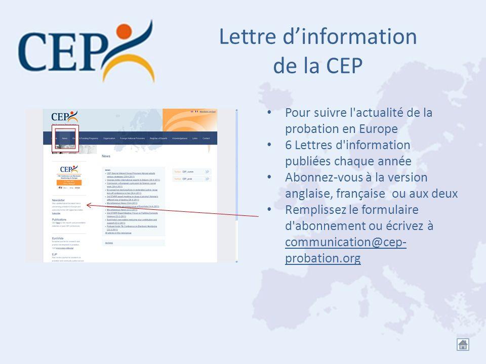 Lettre d'information de la CEP