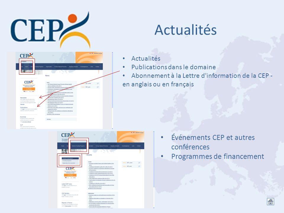 Actualités Événements CEP et autres conférences