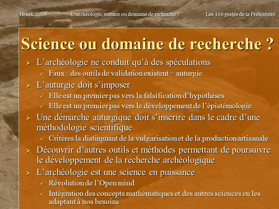 Science ou domaine de recherche