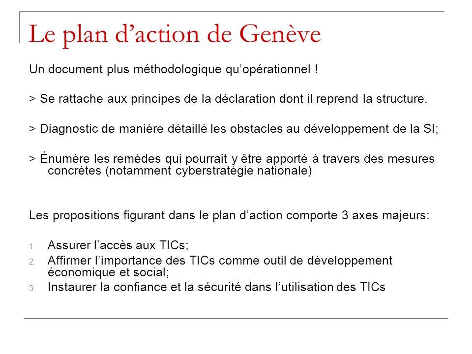 Le plan d'action de Genève