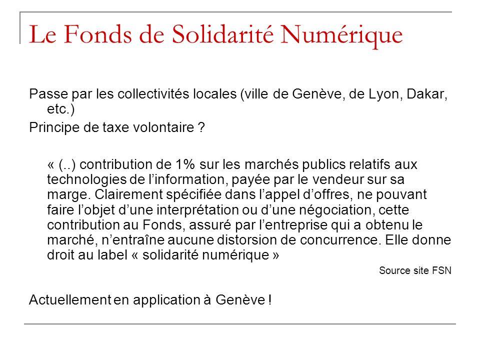 Le Fonds de Solidarité Numérique