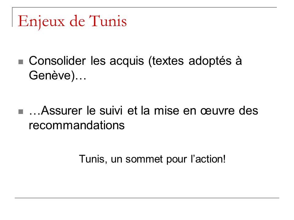 Tunis, un sommet pour l'action!