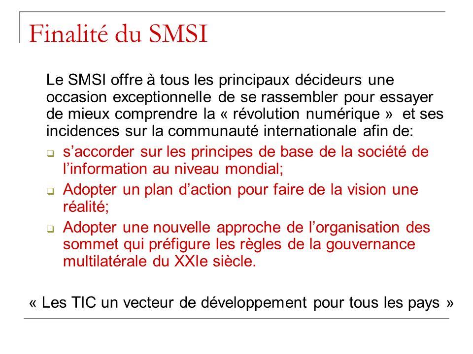 Finalité du SMSI